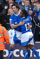 Photo: Ashley Pickering.<br />Ipswich Town v Colchester United. Coca Cola Championship. 20/01/2007.<br />Alan Lee (L) celebrates his equaliser for Ipswich (1-1) with team mate Jaime Peters