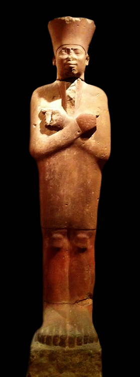 Sandstone statue of Mentuhotep II wearing Jubilee Garment. 2nd Dynasty reign of Mentuhotep II 2051-2000 BC from Deir el Bahri, Thebes Egypt