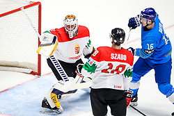 Bence Balizs of Hungary and Dustin Boyd of Kazakhstan during ice hockey match between Kazakhstan and Hungary at IIHF World Championship DIV. I Group A Kazakhstan 2019, on May 5, 2019 in Barys Arena, Nur-Sultan, Kazakhstan. Photo by Matic Klansek Velej / Sportida