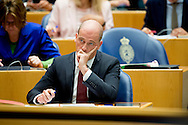 Pvda fractievoozitter Diederik Samsom in de Tweede Kamer tijdens de eerste dag van de Algemene Beschouwingen in de Tweede Kamer.