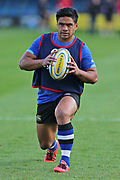 Bath Ben Tapua warming up before the Aviva Premiership match between Bath Rugby and Gloucester Rugby at the Recreation Ground, Bath, United Kingdom on 29 October 2017. Photo by Gary Learmonth.