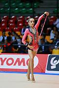 Alice Intini atleta della società Etruria di Prato durante la seconda prova del Campionato Italiano di Ginnastica Ritmica.<br /> La gara si è svolta a Desio il 31 ottobre 2015.
