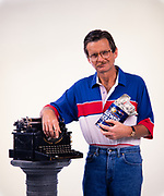 Lewis Grizzard with his beloved typewriter and coffee can filled with money that he wrote about in his columns. Grizzard was an American writer and humorist, known for his Southern demeanor and commentary on the American South. Although he spent his early career as a newspaper sports writer and editor, becoming the sports editor of the Atlanta Journal at age 23, he is much better known for his humorous newspaper columns in the Atlanta Journal-Constitution. He was also a popular stand-up comedian and lecturer. Lewis Grizzard with his beloved typewriter and coffee can filled with money that he wrote about in his columns. Grizzard was an American writer and humorist, known for his Southern demeanor and commentary on the American South. Although he spent his early career as a newspaper sports writer and editor, becoming the sports editor of the Atlanta Journal at age 23, he is much better known for his humorous newspaper columns in the Atlanta Journal-Constitution. He was also a popular stand-up comedian and lecturer.