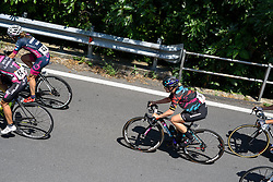 Tiffany Cromwell well positioned in the foothills of the first climb of the day at Giro Rosa 2016 - Stage 6. A 118.6 km road race from Andora to Alassio, Italy on July 7th 2016.