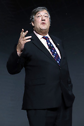 Stephen Fry speaks at the Bill and Melinda Gates foundation's Goalkeepers event at Jazz at Lincoln Center in New York.