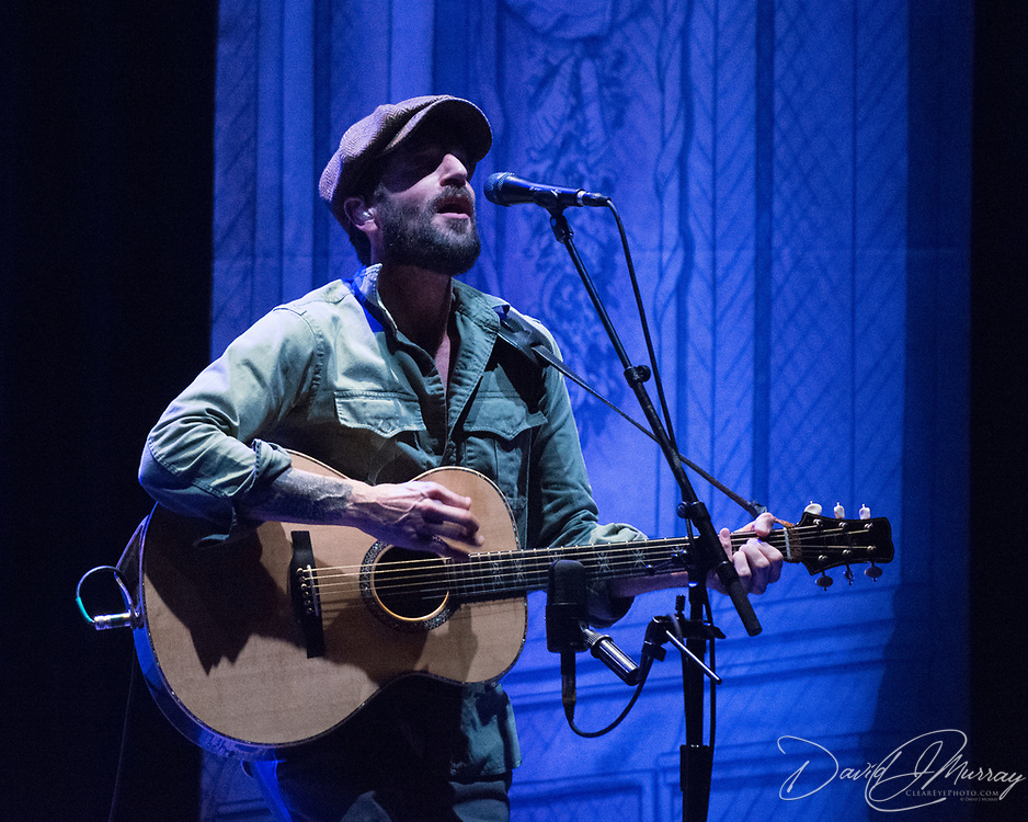 Ray LaMontagne performs with John Stirratt at The Music Hall in Portsmouth, NH. Oct 2017.