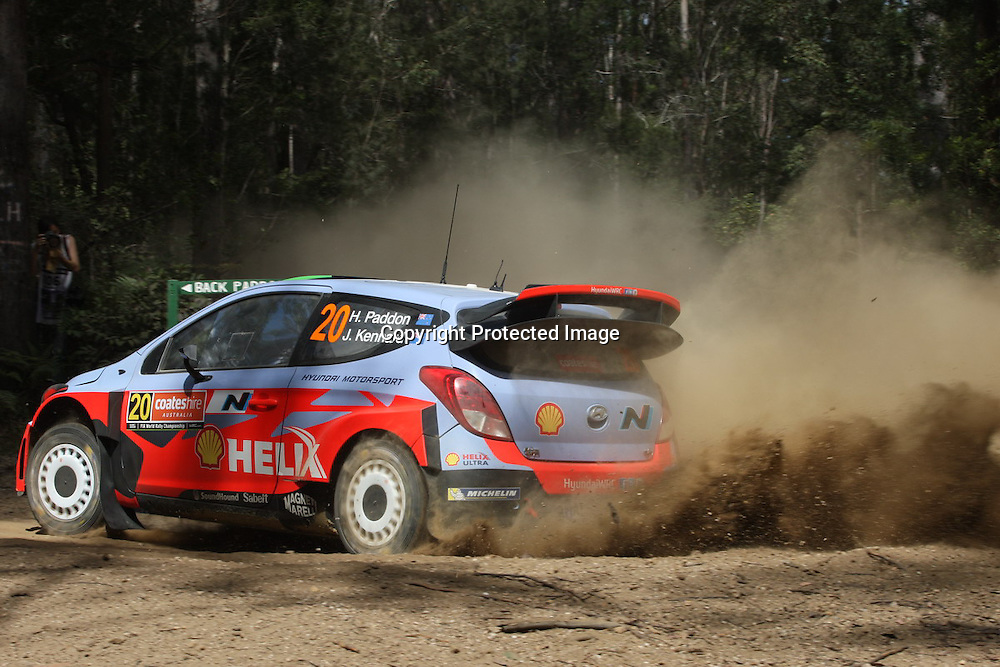 Hayden Paddon (NZL) SS 3. Rally Australia - Round 10 of the FIA World Rally Championship, Day 1, 12 September 2014. Photo: Alan McDonald/www.photosport.co.nz