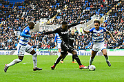 Caleb Ekuban (45) of Leeds United on the attack during the EFL Sky Bet Championship match between Reading and Leeds United at the Madejski Stadium, Reading, England on 10 March 2018. Picture by Graham Hunt.