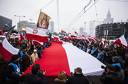 November 11, 2018 - Warsaw, Poland - March on the 100th anniversary of regaining independence by Poland. 11 November, 2018, Warsaw, Poland  (Credit Image: © Krystian Dobuszynski/NurPhoto via ZUMA Press)