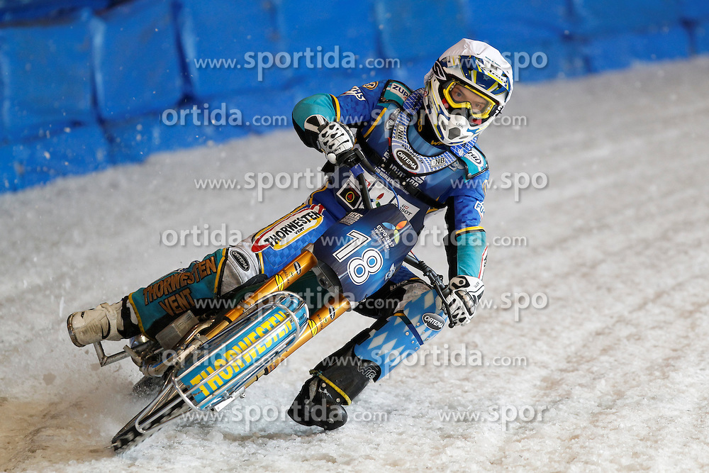 13.03.2016, Assen, BEL, FIM Eisspeedway Gladiators, Assen, im Bild Luca Bauer (GER) // during the Astana Expo FIM Ice Speedway Gladiators World Championship in Assen, Belgium on 2016/03/13. EXPA Pictures &copy; 2016, PhotoCredit: EXPA/ Eibner-Pressefoto/ Stiefel<br /> <br /> *****ATTENTION - OUT of GER*****