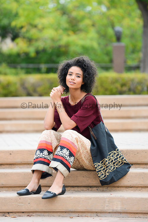 women's clothing company campaign in Balboa Park, San Diego California