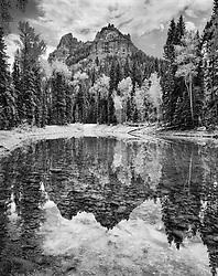 Big Cimmarron Reflection, Big Cimmarron River, Colorado