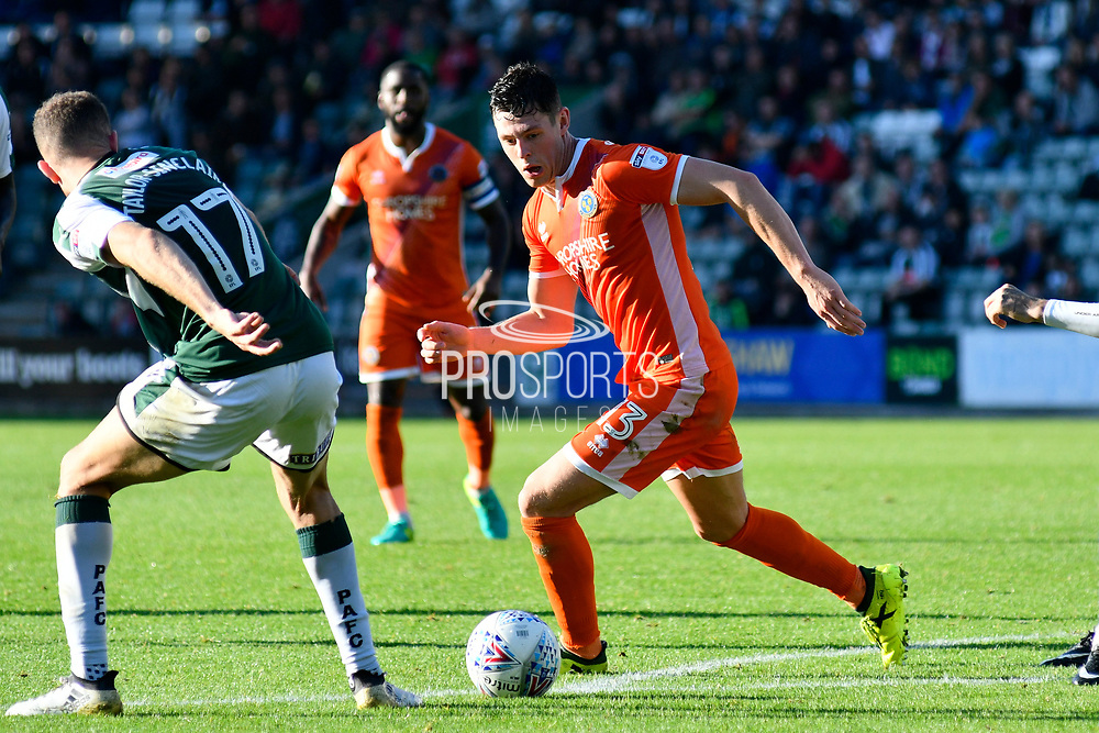James Bolton (13) of Shrewsbury Town on the attack during the EFL Sky Bet League 1 match between Plymouth Argyle and Shrewsbury Town at Home Park, Plymouth, England on 14 October 2017. Photo by Graham Hunt.