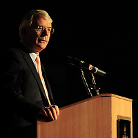 (c) INS News Agency Ltd... 24/11/2008 <br />Sir John Major, British Prime Minister from 1990-1997, speaking to students at Wellington College in Crowthorne, Berks tonight (Monday).