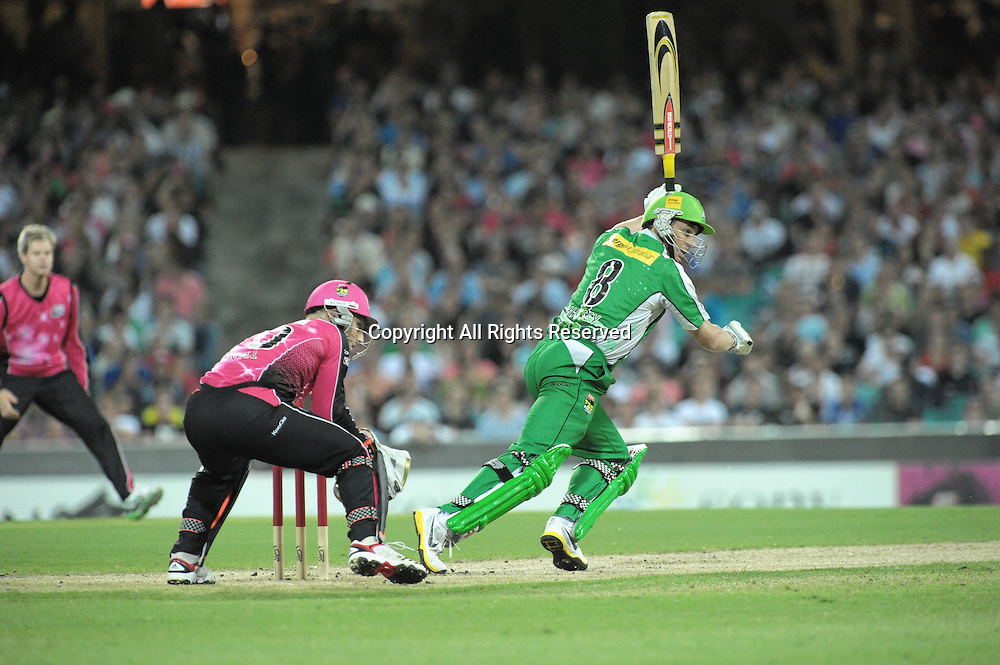 27.12.2011 Sydney, Australia.Melbourne Stars batsman David Hussey in action during the KFC T20 Big Bash League game between the Sydney Sixers  and the Melbourne Stars at the Sydney Cricket Ground.
