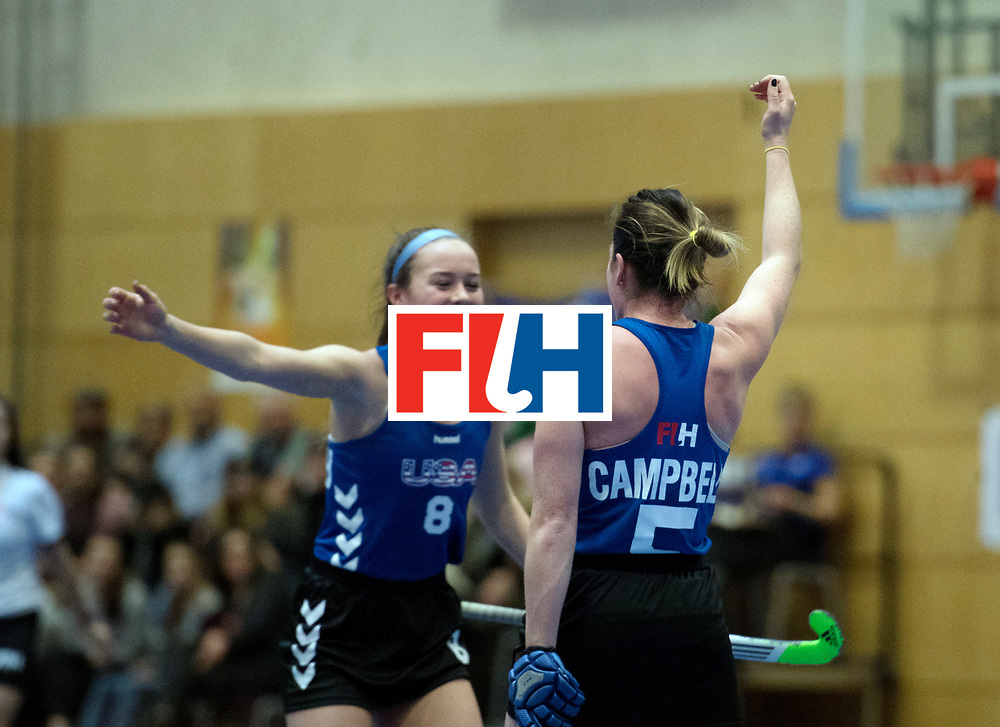 BERLIN - Indoor Hockey World Cup<br /> United States - Namibia<br /> foto: Ali Campbell and Anarose McDonough <br /> WORLDSPORTPICS COPYRIGHT FRANK UIJLENBROEK
