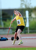 21 Aug 2016:  Darragh Kirk, from Donegal.  Boys U14 Javelin.  2016 Community Games National Festival 2016.  Athlone Institute of Technology, Athlone, Co. Westmeath. Picture: Caroline Quinn