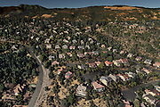 A Google Earth Pro rendering of Parker Hill Road (left) and the Courts at Crown Hill Drive in Santa Rosa, Calif. The area was later devastated by the Tubbs Fire in October 2017.