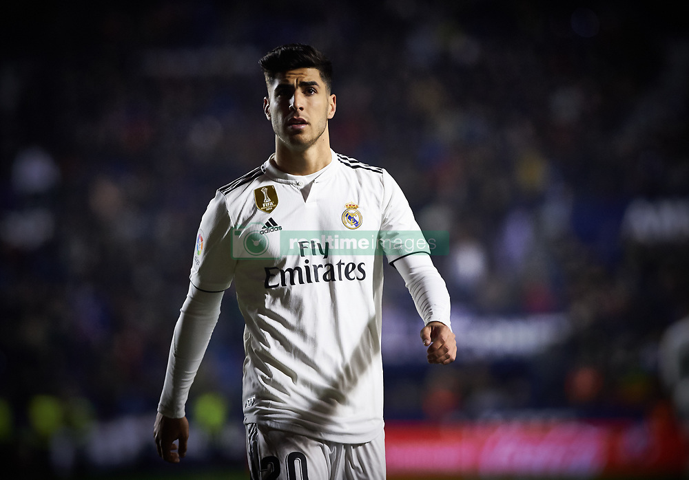 February 24, 2019 - Valencia, Valencia, Spain - Marco Asensio of Real Madrid during the La Liga match between Levante and Real Madrid at Estadio Ciutat de Valencia on February 24, 2019 in Valencia, Spain. (Credit Image: © Maria Jose Segovia/NurPhoto via ZUMA Press)