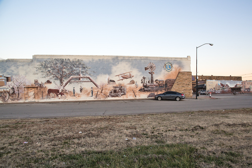 Mural in Cushing, Oklahoma, a hub for oil pipelines.