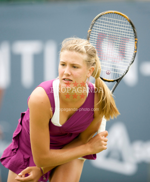 LIVERPOOL, ENGLAND - Wednesday, June 17, 2009: Eugenie Bouchard (CAN) during Day One of the Tradition ICAP Liverpool International Tennis Tournament 2009 at Calderstones Park. (Pic by David Rawcliffe/Propaganda)