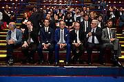 Federico Zurleni, Egidio Bianchi, Gianni Petrucci, Gaetano Laguardia<br /> Presentazione Campionato Lega Basket 2016-2017<br /> Basket Serie A  2016<br /> Milano 26/09/2016<br /> Foto Ciamillo-Castoria
