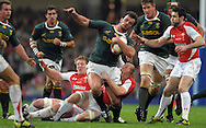 Photo © SPORTZPICS / SECONDS LEFT IMAGES 2010 - Rugby Union - Invesco Perpetual Series - Wales v South Africa - 13/11/10 - South Africa's Bismarck du Plessis is brought down by Martyn Williams close to the welsh tryline- at Millennium Stadium Cardiff Wales UK -  All rights reserved