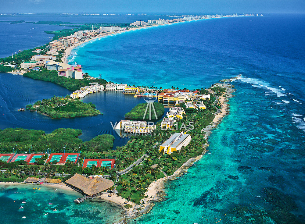 Aerial view of Punta Nizuc.<br />