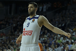 March 10, 2017 - Madrid, Madrid, Spain - Felipe Reyes  of Real Madrid in action during the 2016/2017 Turkish Airlines EuroLeague Regular Season Round 25 game between Real Madrid v Crvena Zvezda mts Belgrade at Wizink Center on March 10, 2017 in Madrid, Spain. Photo: Oscar Gonzalez/NurPhoto  (Credit Image: © Oscar Gonzalez/NurPhoto via ZUMA Press)