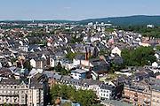 Blick auf Wiesbaden, Bergkirchenviertel und Bergkirche, Wiesbaden, Hessen, Deutschland | view of city of Wiesbaden, Bergkirchenviertel and Bergkirche, Wiesbaden, Hesse, Germany