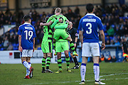 Forest Green Rovers Marcus Kelly(10) and celebrates, 0-2 during the FA Trophy 2nd round match between Chester FC and Forest Green Rovers at the Deva Stadium, Chester, United Kingdom on 14 January 2017. Photo by Shane Healey.