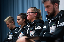 Vita Lukan during PZS press conference after IFSC Climbing World Championships in Hachioji (JPN) 2019, on August 23, 2019 at Ministry of Education, Science and Sport, Ljubljana, Slovenia. Photo by Grega Valancic / Sportida