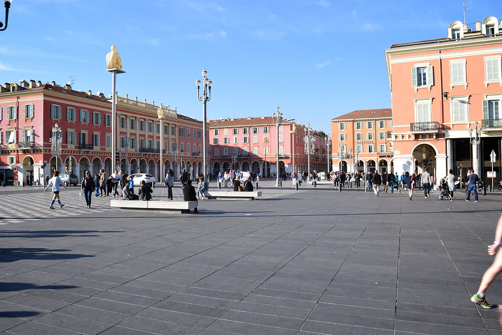 Place Massena in Nice, France,