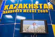 Hannover Messe 2005, the biggest annual industrial fair in the World..Kazakhstan: President Nursultan Nasarbajew in a promo video.