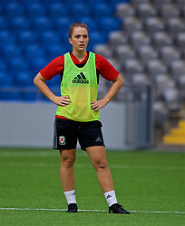ASTANA, KAZAKHSTAN - Friday, September 15, 2017: Wales' Emma Beynon training at the Astana Arena ahead of the FIFA Women's World Cup 2019 Qualifying Round Group 1 match against Kazakhstan. (Pic by David Rawcliffe/Propaganda)