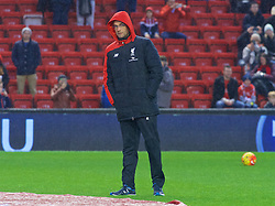 LIVERPOOL, ENGLAND - Sunday, December 13, 2015: Liverpool's manager Jürgen Klopp before the Premier League match against West Bromwich Albion at Anfield. (Pic by James Maloney/Propaganda)