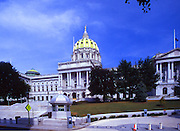 Pennsylvania Capitol West Entrance with Senate and House of Representative Wings, National Registry of Historic Places, National Historic Landmarks