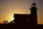 Santa Cruz lighthouse, lighthouse, Mountain Biking, Bicycling, cycling, sunset, California Coast, Pacific Ocean, Ocean, Sunset, California