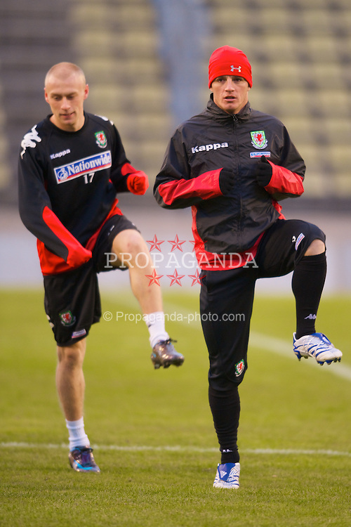 LUXEMBOURG CITY, LUXEMBOURG - Tuesday, March 25, 2008: Wales' Jason Koumas during training at the Stade Josy Barthel ahead of the International Friendly match against Luxembourg. (Photo by David Rawcliffe/Propaganda)