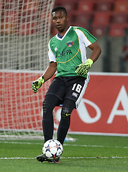 Zama Dlamini of Chippa United during the 2016 Premier Soccer League match between Chippa United and Free State Stars held at the Nelson Mandela Bay Stadium in Port Elizabeth, South Africa on the 23rd August 2016<br />