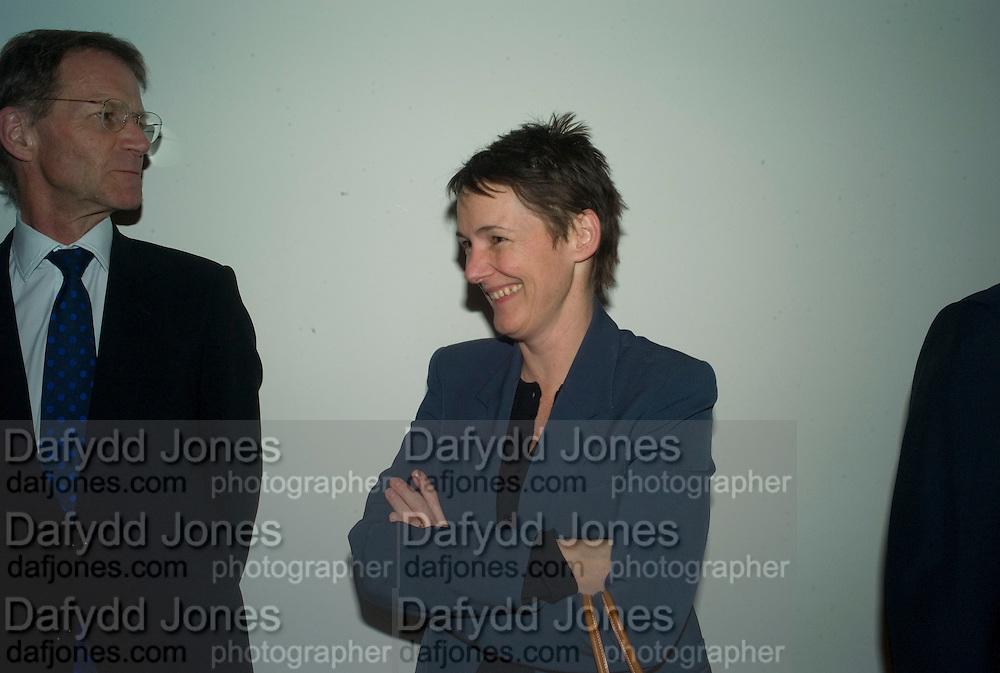 SIR NICHOLAS SEROTA AND SADIE COLES, Reception, private view and dinner.; Juan Munoz- A Retrospective. Tate Modern. -DO NOT ARCHIVE-© Copyright Photograph by Dafydd Jones. 248 Clapham Rd. London SW9 0PZ. Tel 0207 820 0771. www.dafjones.com.