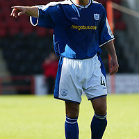 David Hannah, St Johnstone...07.08.04<br /><br />Picture by Graeme Hart.<br />Copyright Perthshire Picture Agency<br />Tel: 01738 623350  Mobile: 07990 594431