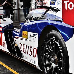 LMP1-TOYOTA RACING, Toyota TS030 - Hybrid, Hybrid, Drivers, Alexander Wurz (AUT), Nicolas Lapierre (FRA),Kazuki Nakajima (JPN)..During set up for the WEC 6 Hrs of Spa-Francorchamps.Taken on the 2nd May, 2013 at the Spa - Francorchamps Circuit, Belgium. .WAYNE NEAL | STOCKPIX.EU