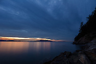 A Larrabee State Park Sunset from Clayton Beach in  Bellingham, Washington State, USA