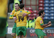 Huddersfield - Saturday, March 13th, 2010: Stephen Elliott of Norwich City celebrates scoring the second goal against Huddersfield Town during the Coca Cola League One match at the Galpharm Stadium, Huddersfield. (Pic by Michael Sedgwick/Focus Images)