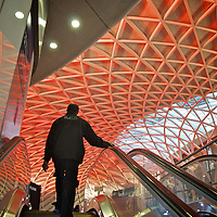 There new King's Cross railway station interior in London, England