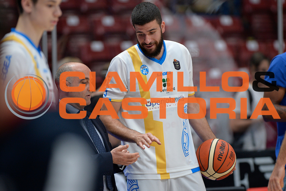 Antonio Iannuzzi,<br /> Olimpia EA7 Emporio Armani Milano vs Vanoli Cremona<br /> Lega Basket Serie A 2016/2017<br /> PlayOff semifinale gara 2<br /> Milano 14/05/2017<br /> Foto Ciamillo-Castoria / I.Mancini