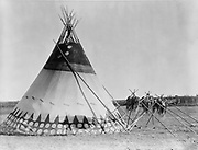 Tepee, Alberta, Canada, 1927.  Photograph by Edward Curtis (1868-1952).