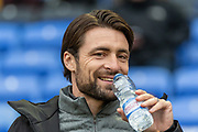 MK Dons manager Russell Martin before the EFL Sky Bet League 1 match between Bolton Wanderers and Milton Keynes Dons at the University of  Bolton Stadium, Bolton, England on 16 November 2019.
