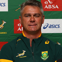 DURBAN, SOUTH AFRICA - AUGUST 05: Heyneke Meyer (Head Coach) of South Africa during the South Africa Springboks team announcement at Kashmir Resturant on August 05, 2015 in Durban, South Africa. (Photo by Steve Haag/Gallo Images)